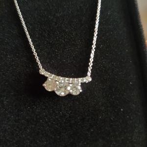 1kt diamond  14k white gold  necklace